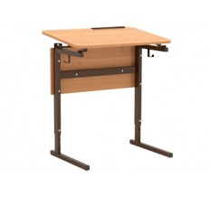 Стол 1-м. регулир. высота и наклон столешницы 0 или 10° 2-4, 3-5, 4-6 гр