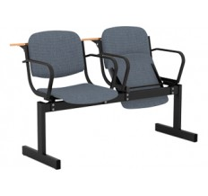 2-местный, откидывающиеся сиденья, мягкий, с подлокотниками, лекционный