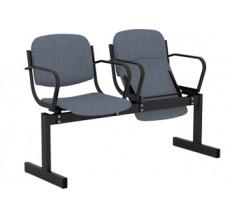 2-местный, откидывающиеся сиденья, мягкий, с подлокотниками