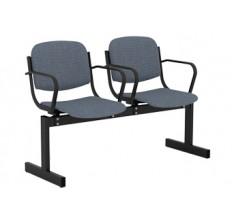2-местный, не откидывающиеся сиденья, мягкий, с подлокотниками
