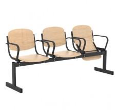 3-местный, откидывающиеся сиденья, с подлокотниками