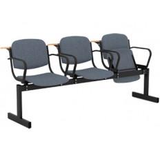 3-местный, откидывающиеся сиденья, мягкий, подлокотники, лекцион.